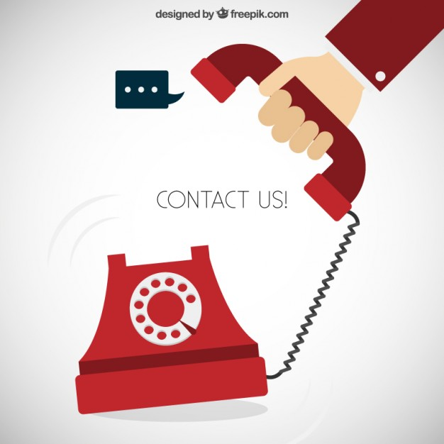 626x626 Contact Us Concept Vector Free Download