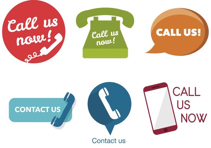 700x490 Various Call Us Now Icons