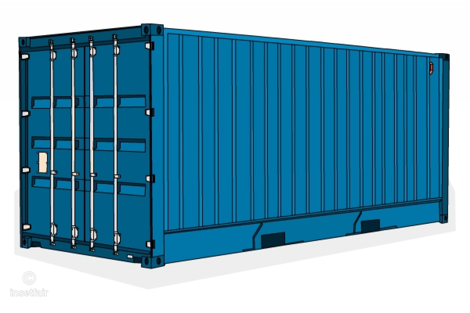 1600x1067 Goods Shipping Container Vector Royalty Free Image