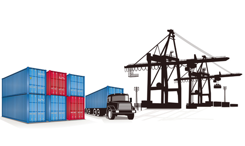 500x297 Set Of Container Shipping Elements Vector 03 Free Download