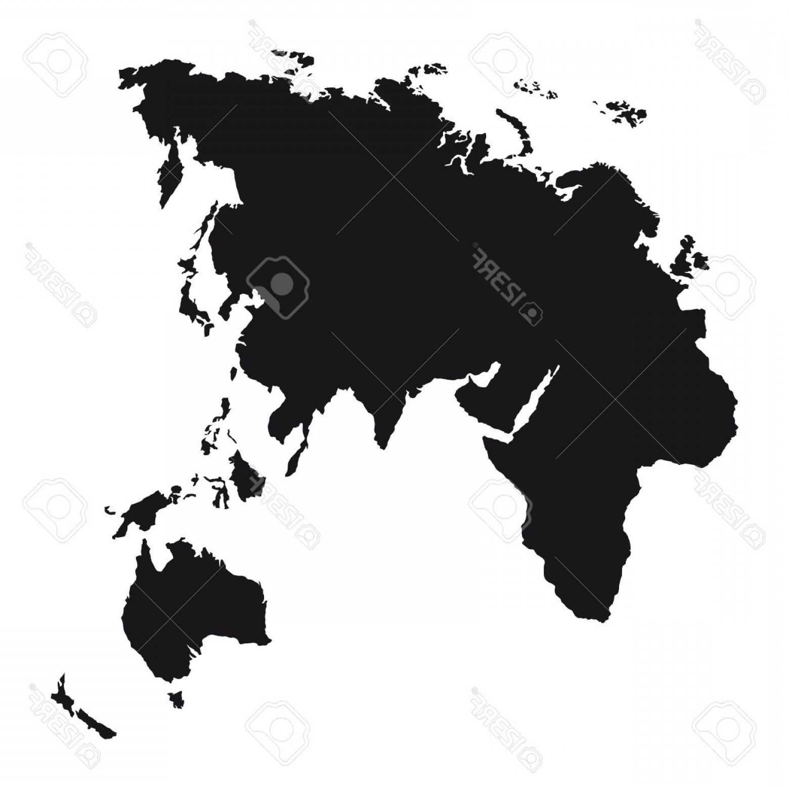 1560x1560 Photoblack Silhouette Europe Asia Africa And Oceania Continents