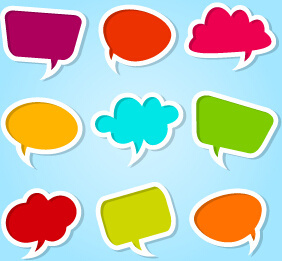 282x261 Colorful Speech Bubbles And Dialog Balloons Free Vector In Adobe