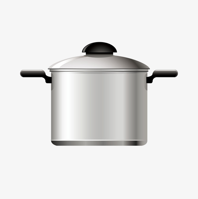 650x651 Stainless Steel Pot Vector, Stainless Steel, Pot Vector, Cooking