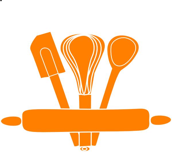 600x530 Orange Kitchen Utensils Clip Art At Clker Vector Clip Art