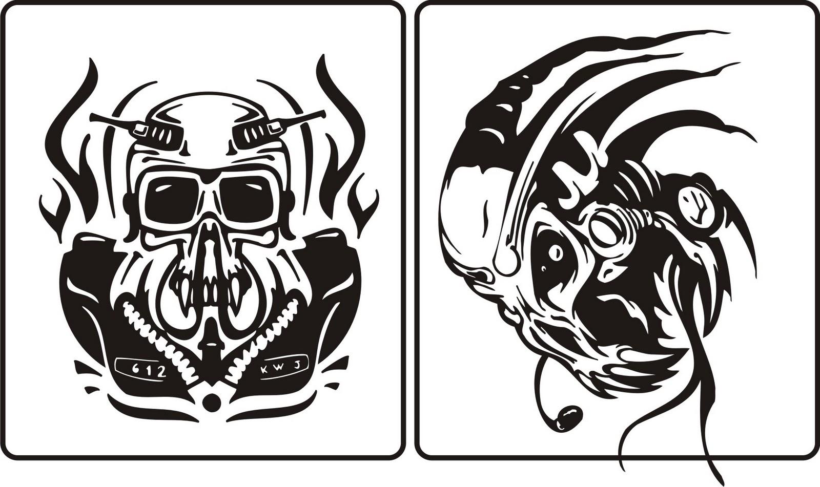 1600x951 Skull Vector (Cool Skull) Corel Draw Tutorial And Free Vectors