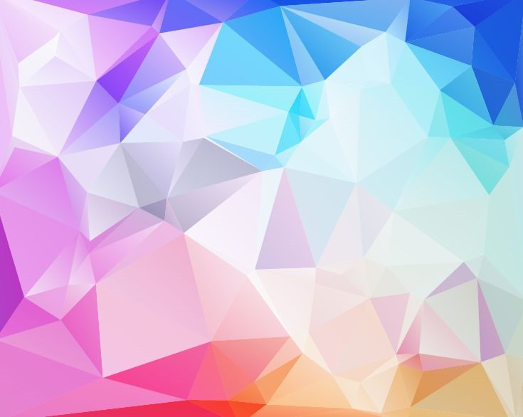 735x586 Abstract Low Poly Background Vector Illustration Free Vector