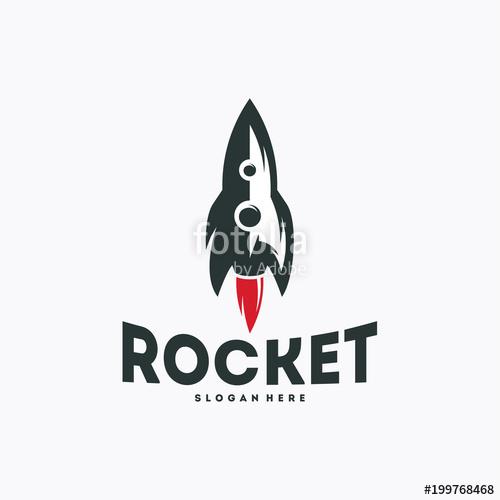 500x500 Cool Rocket Logo Designs Vector, Rocket Sign, Icon, Template