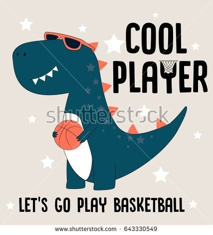 427x470 Cool Player Dino Illustration Vector For Print Design Or Other