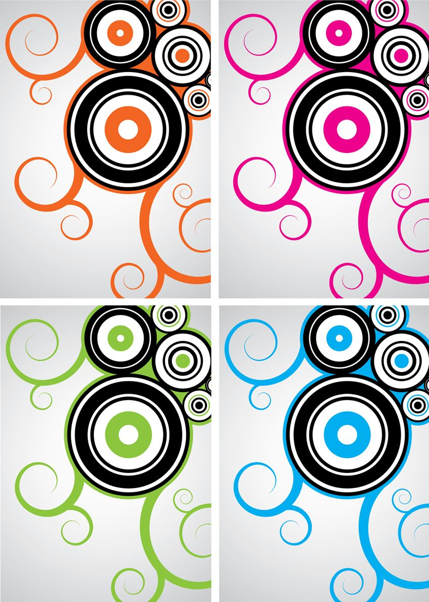 850x1193 Cool Circle Designs Cool Vector Design Swirls