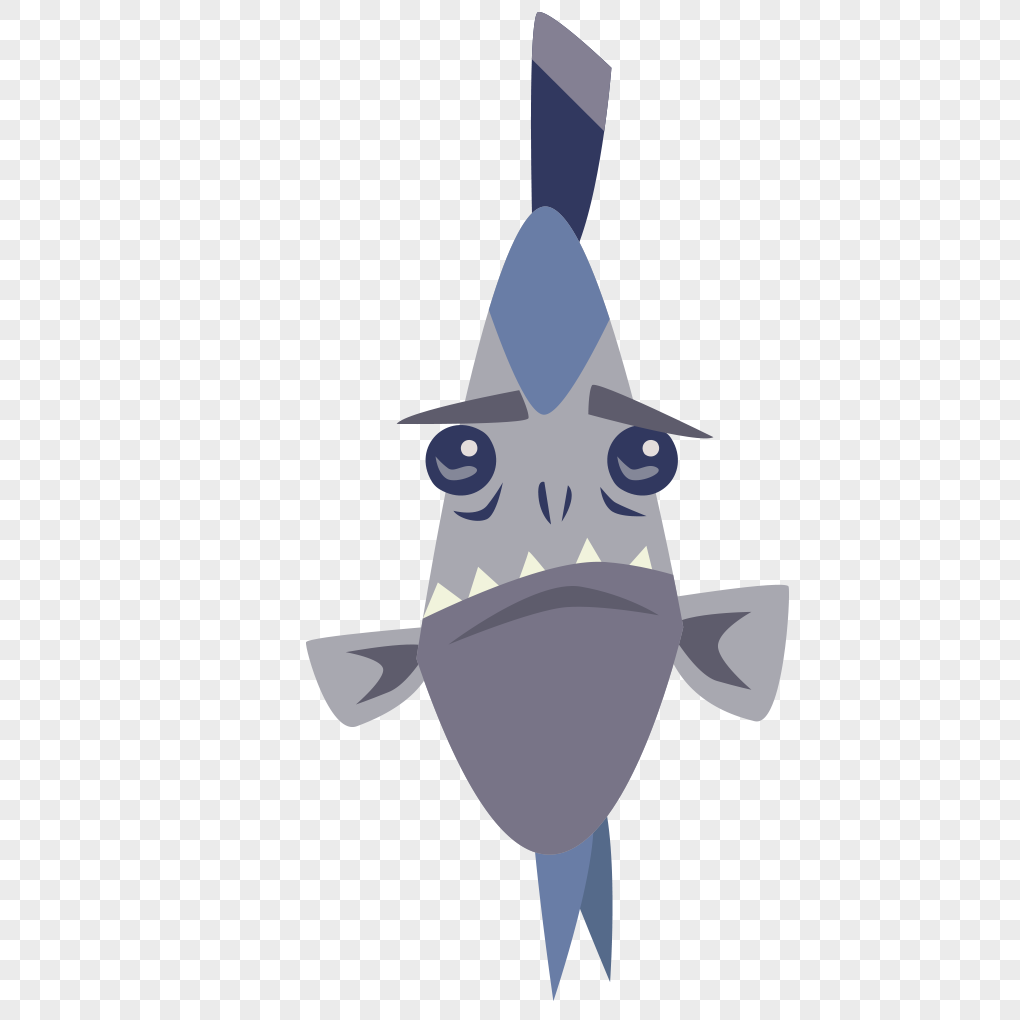 1020x1020 Fish Cool Cartoon Expression Vector Graphics Png Image Picture