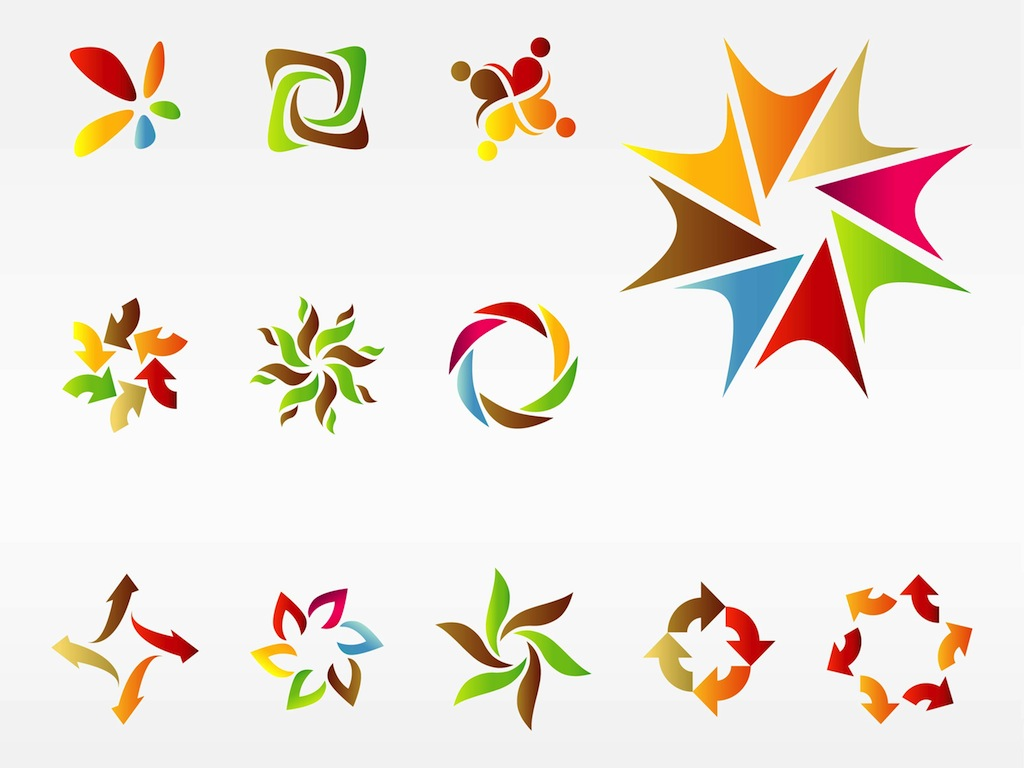 1024x768 Colorful Logo Templates