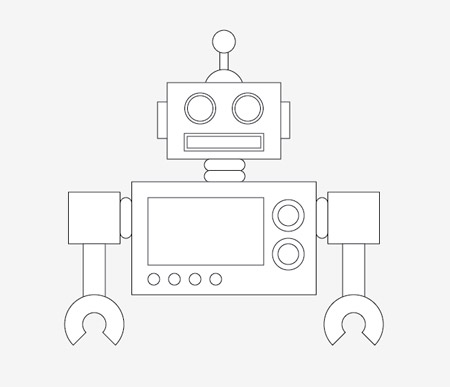 450x387 Create A Cool Vector Robot Character In Illustrator