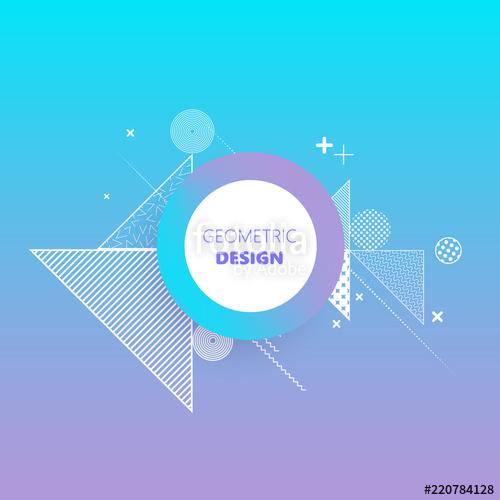 500x500 Modern Gradient Abstract Background Cool Gradient And Triangles