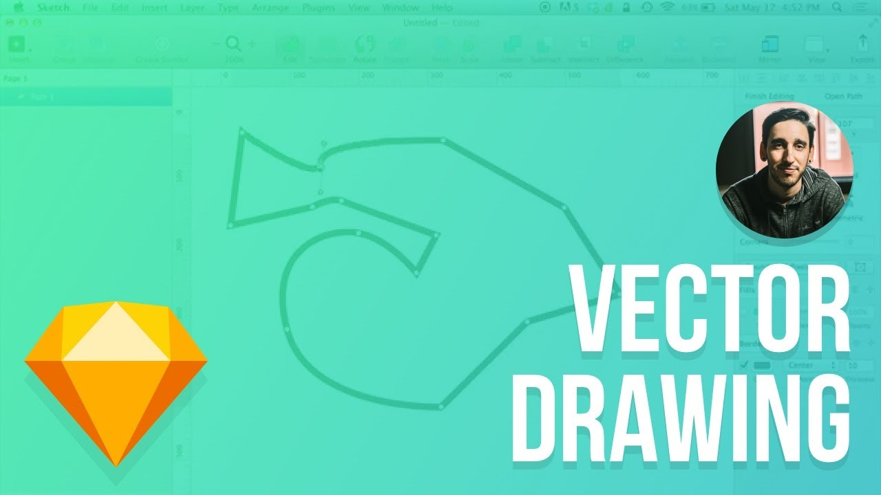 1280x720 Sketch 3 Tutorial Drawing Vector Shapes