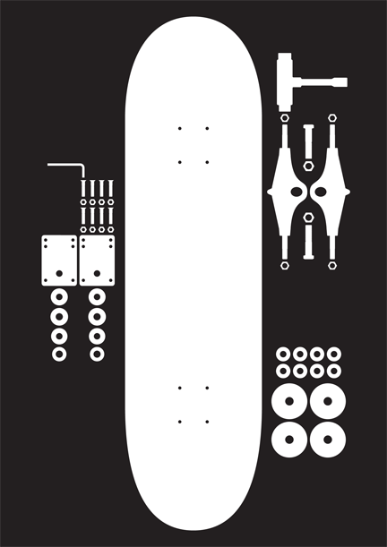432x611 Deconstruction Of A Skateboard. Cool Idea With Vector Shapes