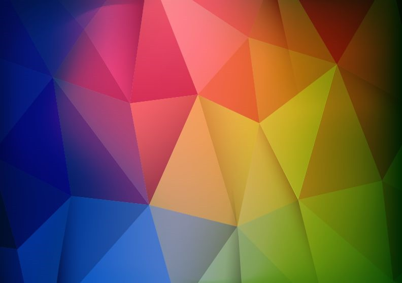 792x557 Abstract Colorful Geometric Shapes Background Vector Illustration