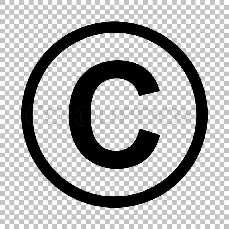 799x800 Copyright Sign. Flat Style Icon On Transparent Background Stock