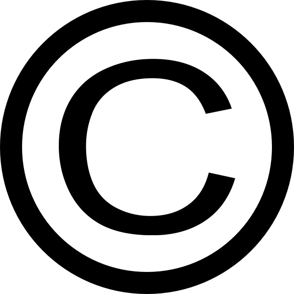 600x600 Thin Copyright Symbol Clip Art Free Vector In Open Office Drawing