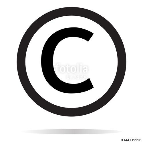 500x500 Copyright Icon On White Background. Copyright Sign. Stock Image