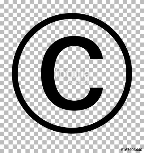 472x500 Copyright Symbol On Transparent Background. Copyright Sign