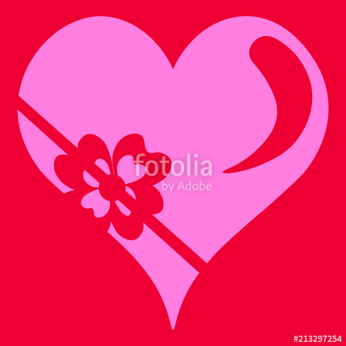 500x500 Corazon, Color Rosa, Regalo, Rojo, Fondo Rojo. Stock Image And