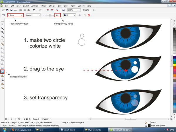 600x450 Creating Vector Eyes With Coreldraw