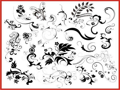 500x375 Vector Coreldraw Floral Elements Free Download Coreldraw Vr12