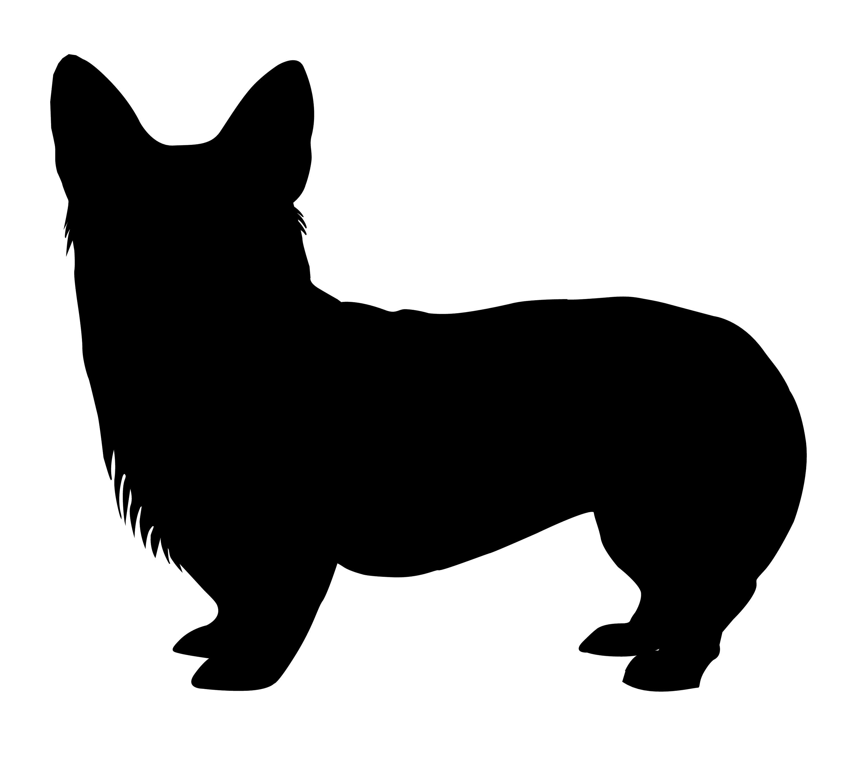 3000x2720 Pembroke Welsh Corgi Vector Clipart Silhouette Dog Digital Etsy