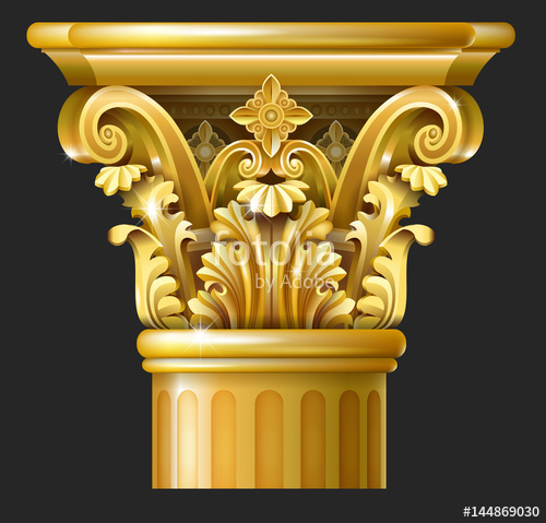 500x479 Golden Capital Of The Corinthian Column In The Baroque Style