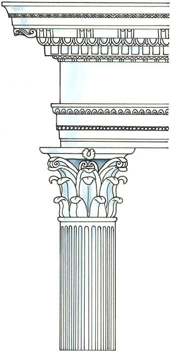 341x700 Greek Columns Vector Free Download Doric Left Ionic Center And
