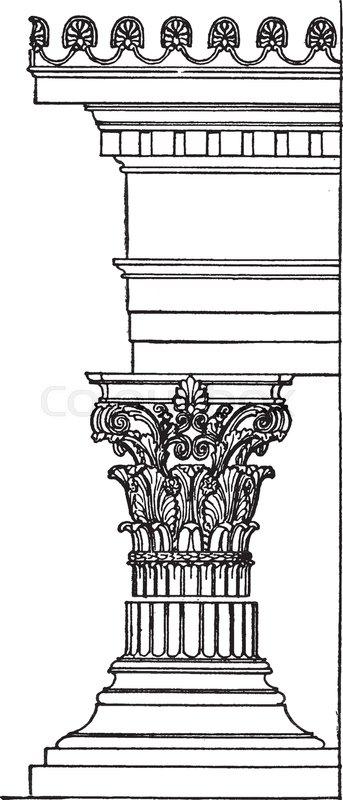 343x800 Greek Corinthian Order, Classical, Greek Architecture