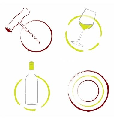 380x400 The Wineglass Bottle Of Wine And Corkscrew Vector Photoshop