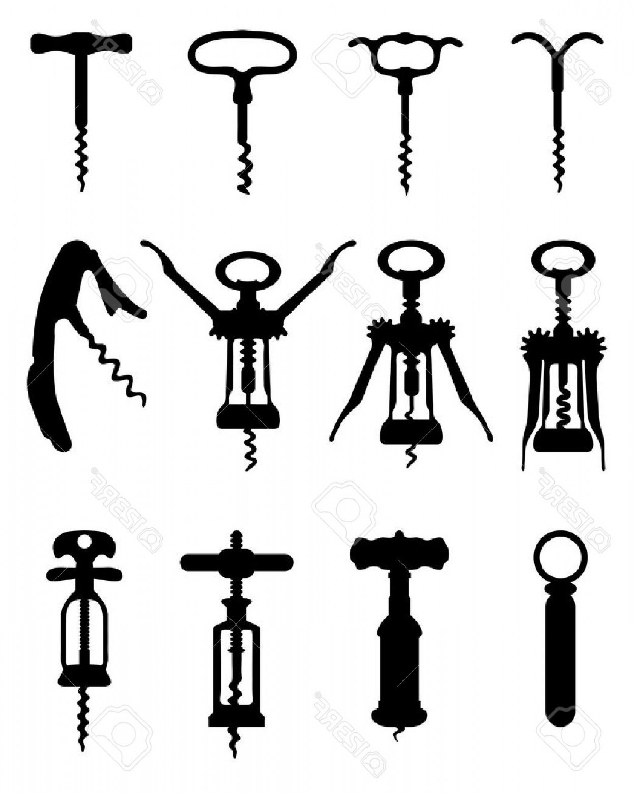 1246x1560 Cork Screw Vector Art Lazttweet