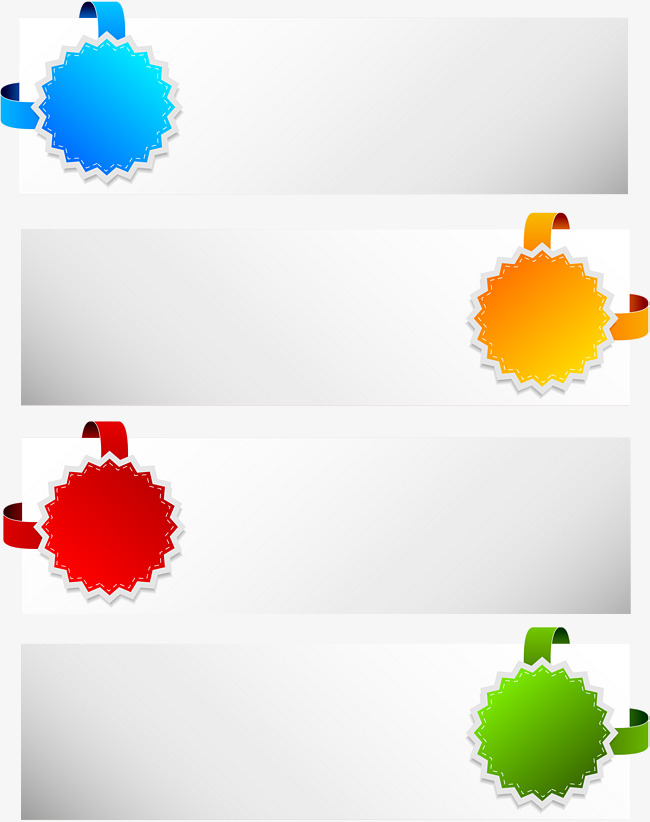 650x822 Colorful Corner Label Banner Vector, Corner Vector, Label Vector
