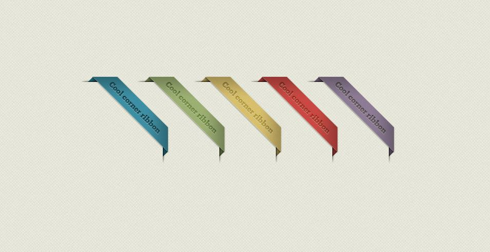 954x492 Corner Ribbons Templates Vector Graphics Ribbon
