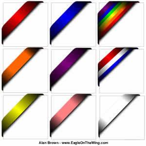 300x300 Corner Ribbons Vector
