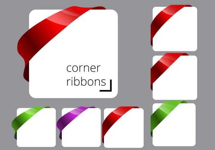 700x490 Free Corner Ribbon Vectors