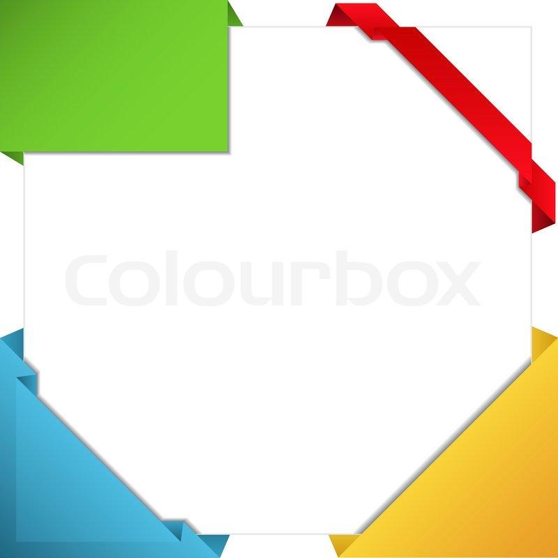 800x800 Vector Origami Corner Ribbons Stock Vector Colourbox