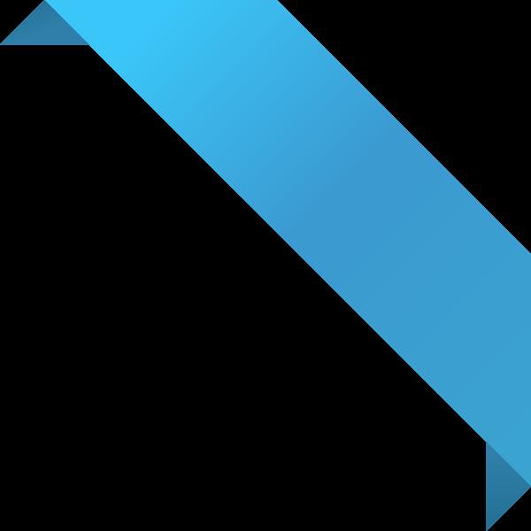 600x600 Corner Ribbon02 Light Blue Vector Data Svg(Vector)public Domain