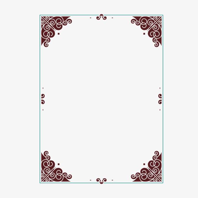 650x651 Vector Four Corner Printed European Border, Vector, Four Corners