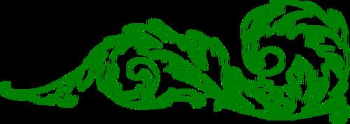 500x178 Vector Clip Art Of Green Decorative Corner Border Public Domain