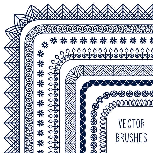 500x500 Line Corner Border Vector Material 06 Free Download