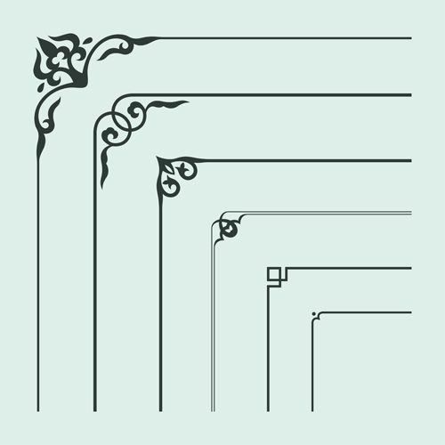 500x500 Corner Ornament Chinese Styles Vector 14 Free Download