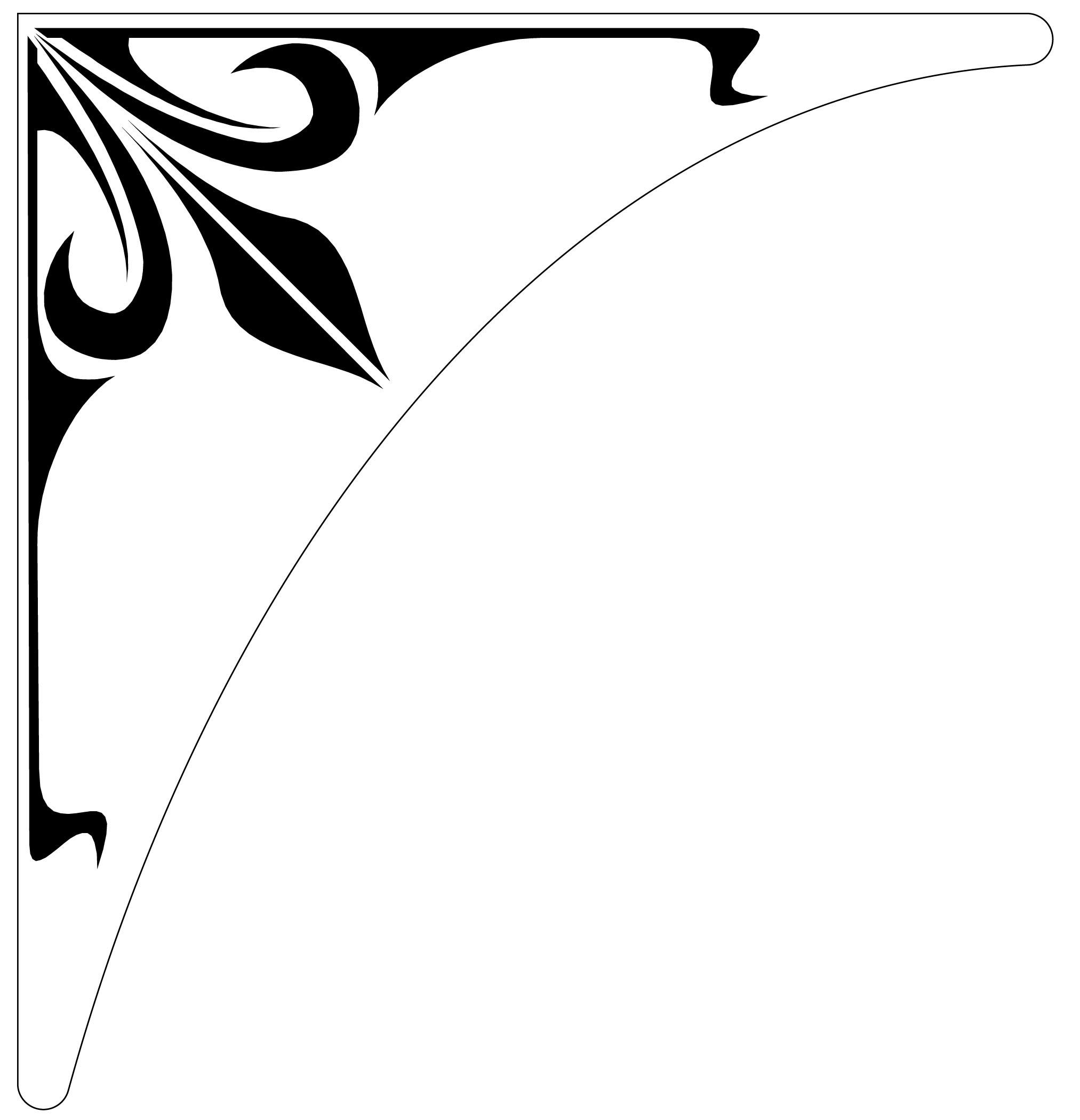 2025x2100 Ornamental Clipart Corner Decoration Free Collection Download
