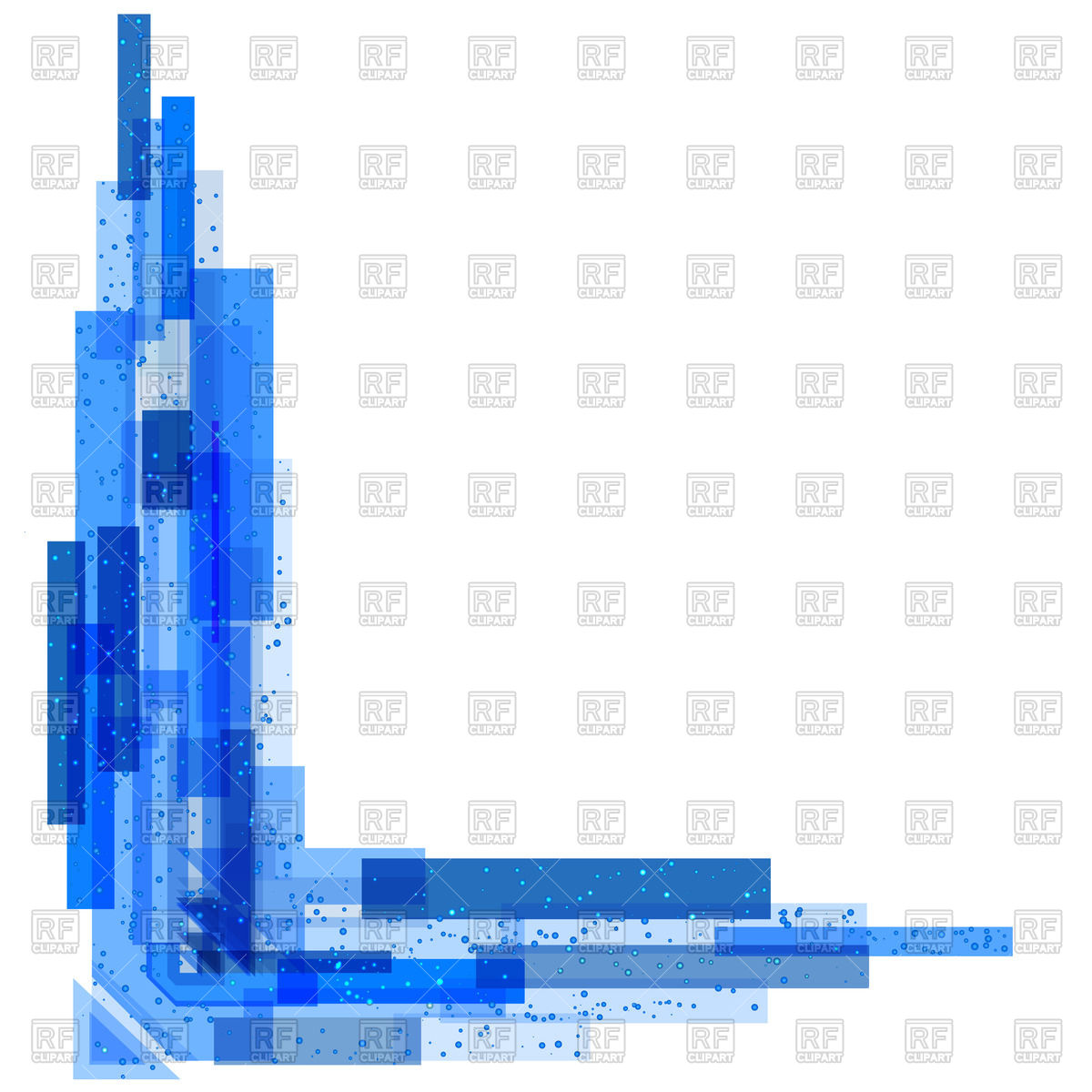 1200x1200 Abstract Blue Corner