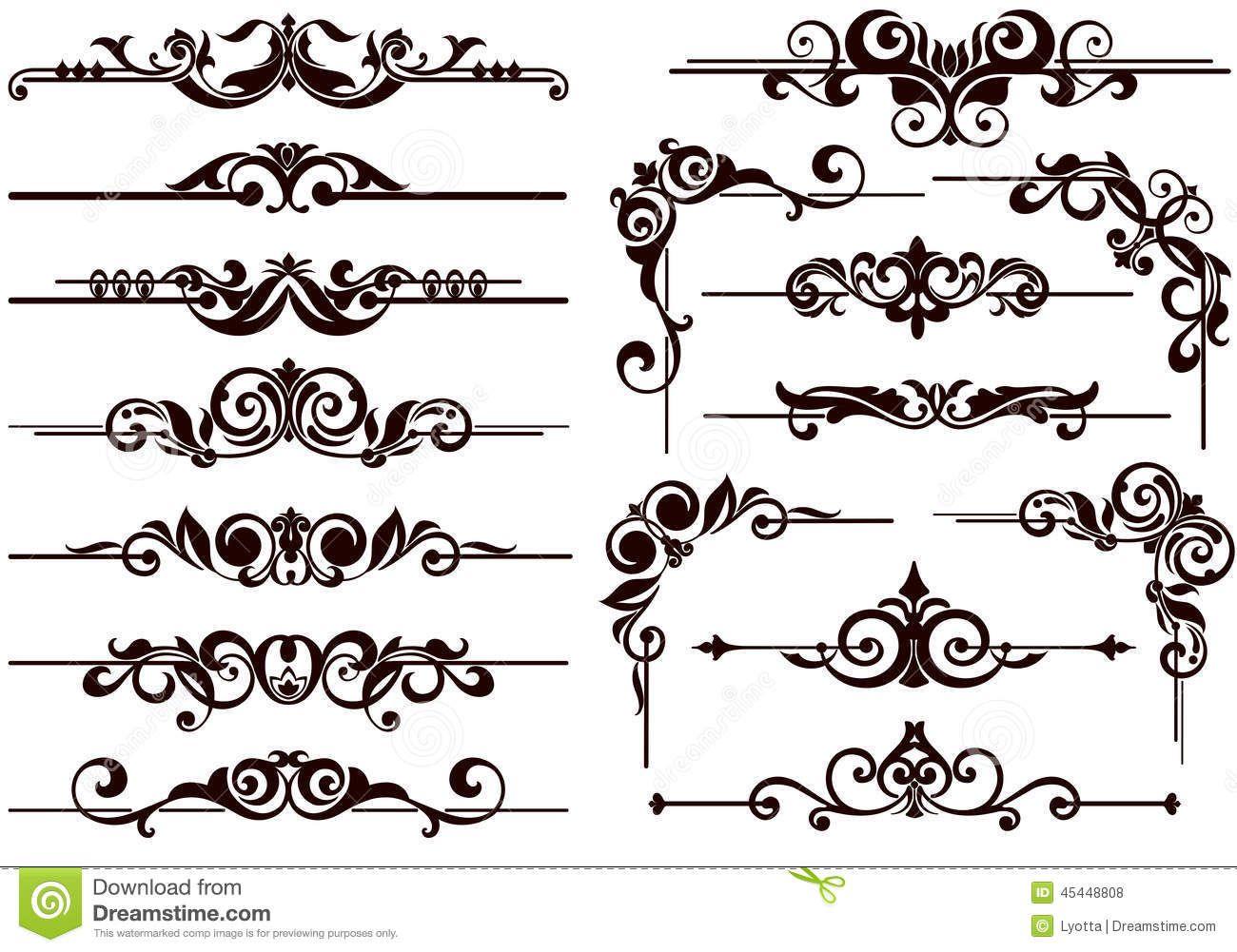 1300x1001 Vector Ornaments Frames, Corners, Borders