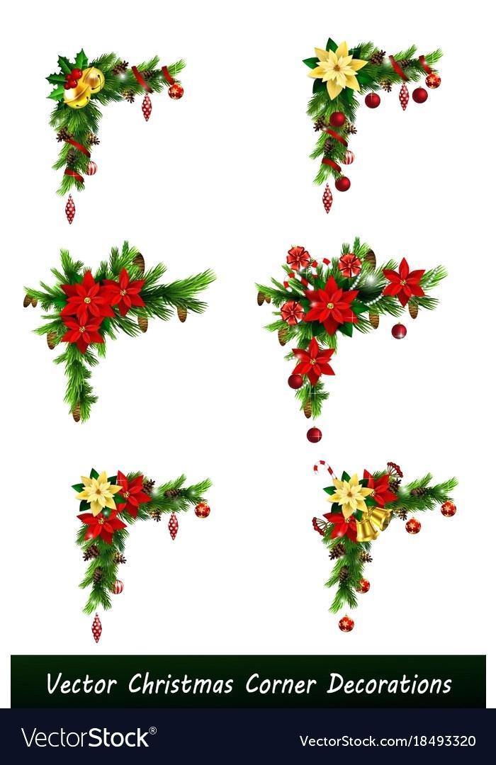 700x1080 Decoration Set Of Corner Decorations Vector Image Christmas