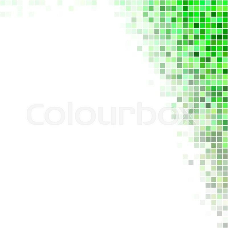 800x800 Green Square Mosaic Corner Design Background Vector Stock Vector