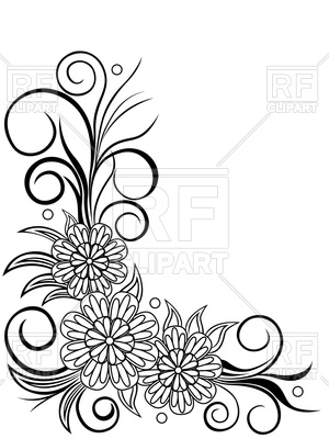300x400 Sheet With Floral Corner Design Vector Image Vector Artwork Of