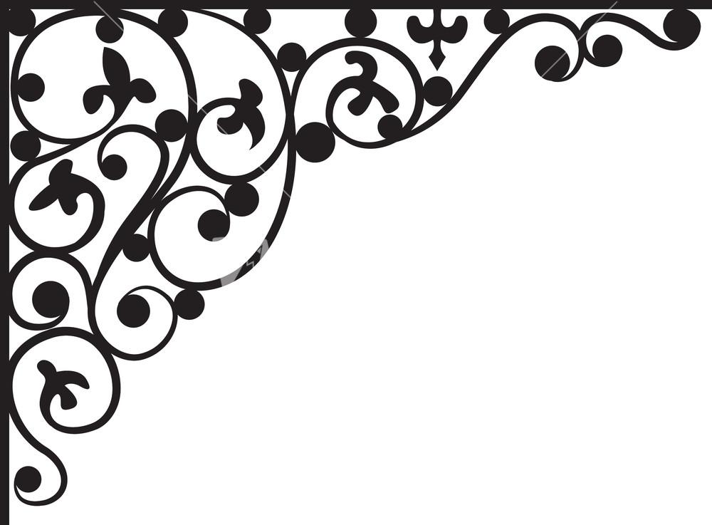 1000x737 Corner Floral Pattern Vector, Corner Design